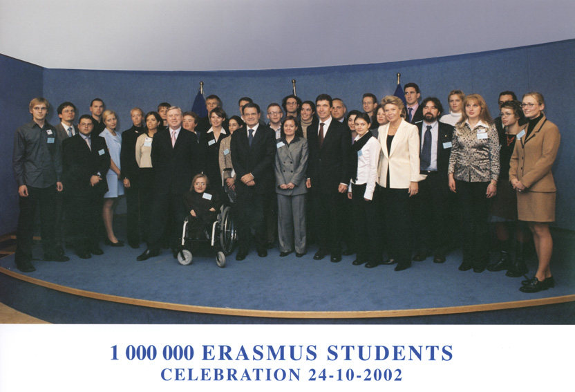Celebration to mark the acceptance of the millionth Erasmus student