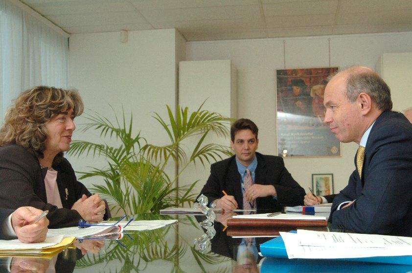 Visit of Tibor Draskovics, Hungarian Minister for Finance, to the EC