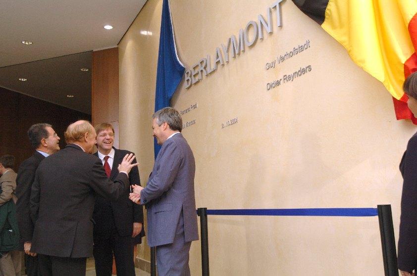 Inauguration of the Berlaymont