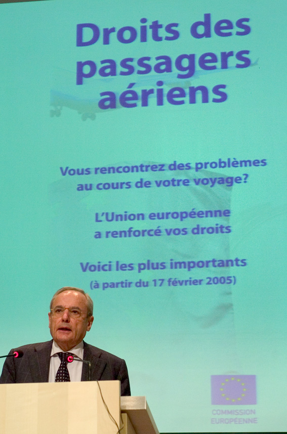 Press conference by Jacques Barrot, Vice-President of the EC, on passengers' rights