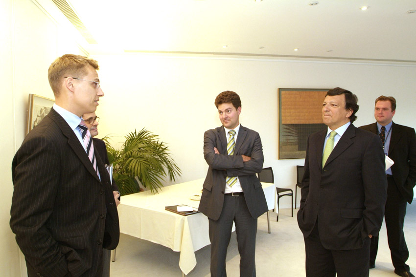 Meeting of José Manuel Barroso, President of the EC, with young Members of the EP