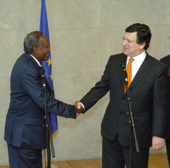 Visit by Abdullah Yusuf Ahmed and Ali Muhammad Ghedi, President and Prime Minister of Somalia, to the EC