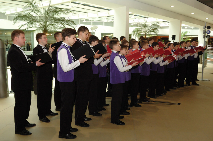 Visit by the Ukrainian children's capella choir Dudaryk to the EC
