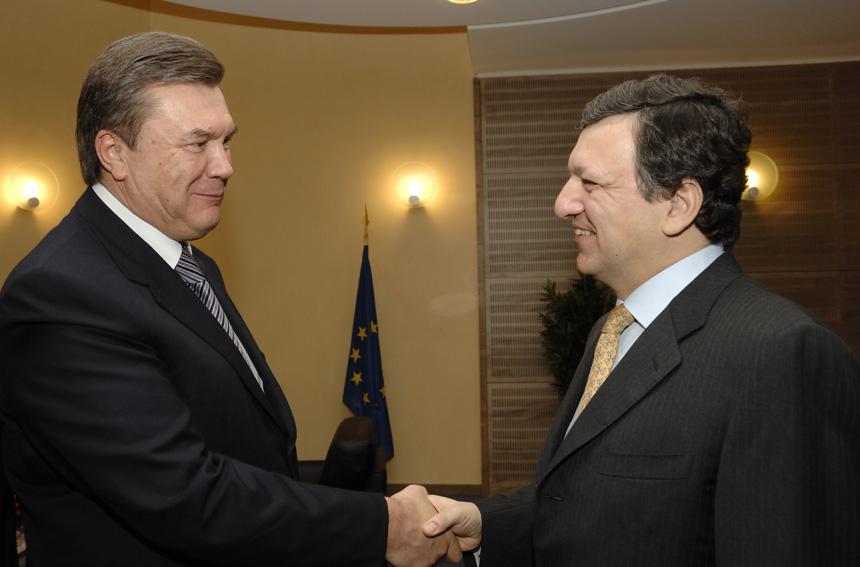 Visite de Victor Ianoukovitch, Premier ministre ukrainien, à la CE