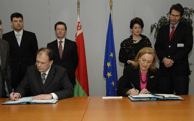 Signature d'un protocole d'accord entre la CE et la Biélorussie