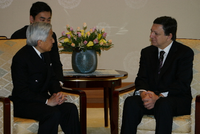 Meeting between José Manuel Barroso, President of the EC, and Akihito, Emperor of Japan