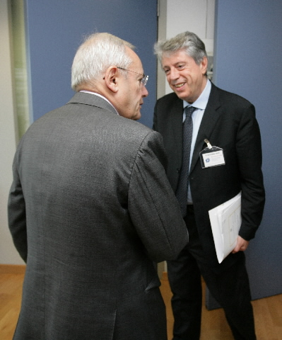 Visit of Francesco Pizzetti, President of the Italian Authority for data protection, to the EC