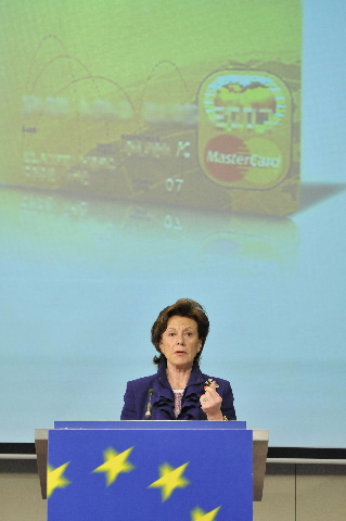 Press conference by Neelie Kroes, Member of the EC, on abusive practices in the payment cards market