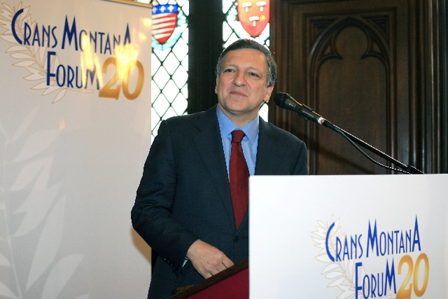 Participation of José Manuel Barroso, President of the EC, at the 20th anniversary of the Crans Montana Forum