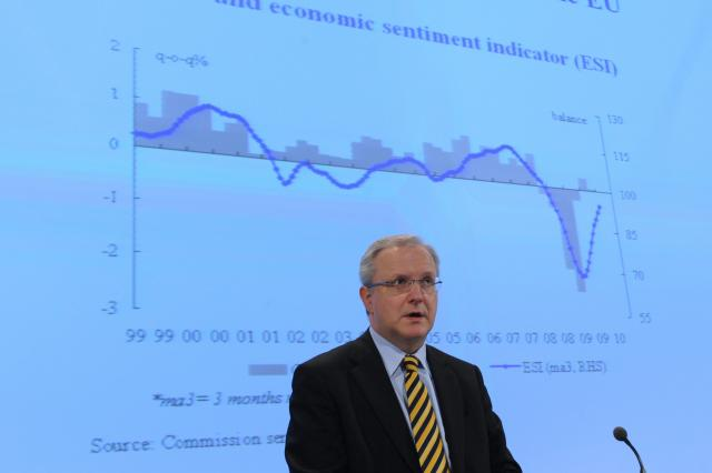 Press conference by Olli Rehn, Member of the EC, on the EU interim forecast