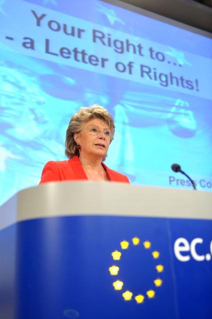 Press conference by Viviane Reding, Vice-President of the EC, on the right to information in criminal proceedings