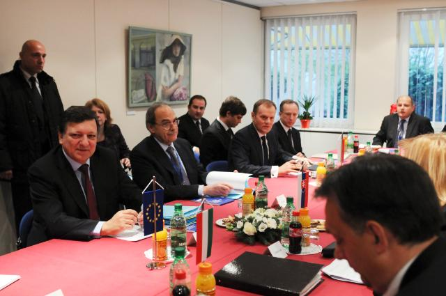 Meeting between José Manuel Barroso, President of the EC, and the Visegrád Group