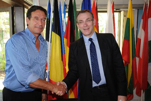 Visit of Andris Piebalgs, Member of the EC, to New Caledonia