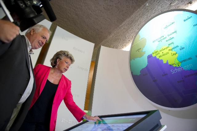 Visit of Viviane Reding, Vice-President of the EC, to Schengen
