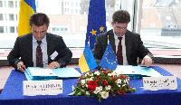 Signing ceremony of an Association Agreement between Ukraine and the EU