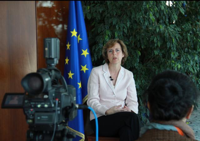 Visite de Connie Hedegaard, membre de la CE, en Turquie