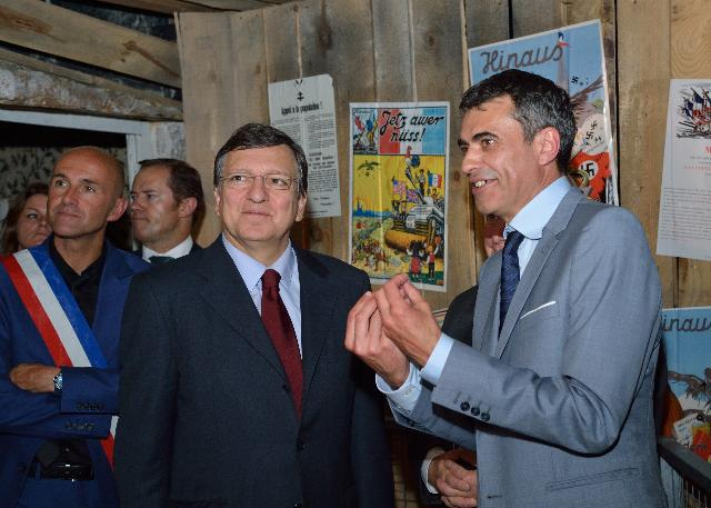 Visite de José Manuel Barroso, président de la CE, du Mémorial de l'Alsace-Moselle
