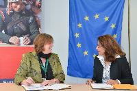 Signing ceremony by the EU and IMF for an EU contribution to a newly set up Trust Fund in South Sudan