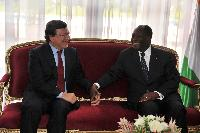 Visit of José Manuel Barroso, President of the EC, to Côte d'Ivoire