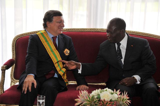 Visit of José Manuel Barroso, President of the EC, to Côte d'Ivoire
