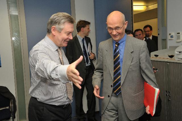 Visite de Pascal Lamy, directeur général de l'OMC, à la CE