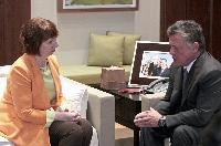 Meeting between Abdullah II, King of Jordan, and Catherine Ashton, Vice-President of the EC