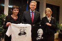 Visite à la CE de Natalia Pinchuk et Marina Adamovich, épouses de prisonniers politiques en Biélorussie