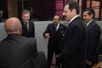 Visite d'Egemen Bağış, ministre turc des Affaires européennes et négociateur en chef pour les négociations d'adhésion de la Turquie à l'UE, et Faruk Çelik, ministre turc du Travail et de la Sécurité sociale, à la CE