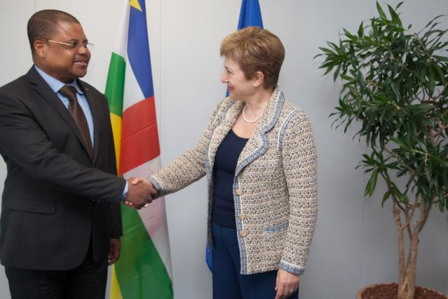Visit of Nicolas Tiangaye, Central African Prime Minister, to the EC