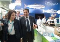 Maria Damanaki, on the left, visiting the European Seafood