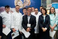 Group photo with the winners of the 2013 Olivier Roellinger Culinar...