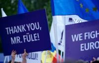 Stefan Fule - Manifestation in support of European Union
