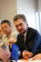 Visite de Günther Oettinger, membre de la CE, aux Etats-Unis