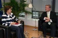Visit of Astrid Thors, OSCE High Commissioner on National Minorities, to the EC