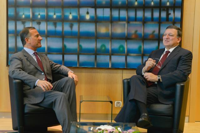 Visit of Franco Frattini, former Vice-President of the EC and President of La Società Italiana per l'Organizzazione Internazionale, to the EC