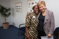 Visit of Angélique Namaika, Laureate of the UNHCR 2013 Nansen Award, to the EC