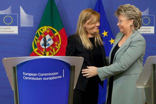 Joint press conference by Paula Teixeira da Cruz, Portuguese Minister for Justice, and Viviane Reding, Vice-President of the EC