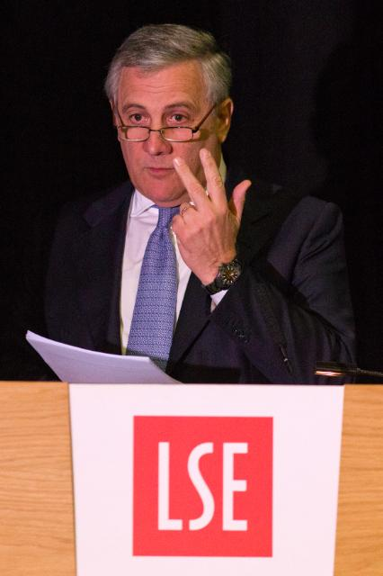 Participation d'Antonio Tajani, membre de la CE, à la conférence 'An Industrial Compact for Europe' organisée par la LSE European Institute, à Londres