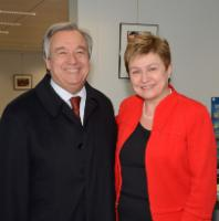 Visit of António Guterres, United Nations High Commissioner for Refugees, to the EC