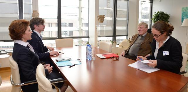 Visite de Pierre Defraigne, directeur exécutif de la Fondation Madariaga - Collège d'Europe, à la CE