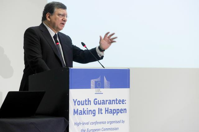 Participation of José Manuel Barroso, President of the EC, and László Andor, Member of the EC, in the 'Youth Guarantee: Making It Happen' High-level conference