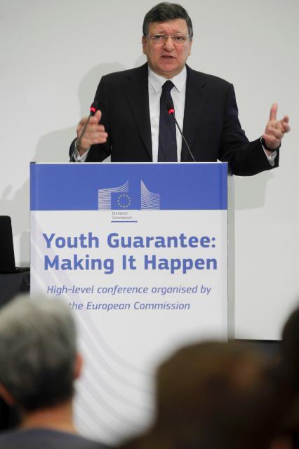 Participation de José Manuel Barroso, président de la CE, et László Andor, membre de la CE, à la conférence de haut niveau 'Youth Guarantee: Making It Happen'