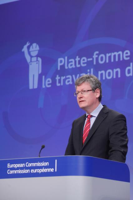 Press conference by László Andor, Member of the EC, on the proposal of a decision to implement a European Platform to prevent and deter undeclared work