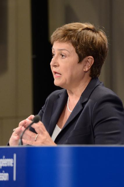 Press conference by Kristalina Georgieva, Member of the EC, on strengthening EU humanitarian aid for Iraq and increasing EU assistance for Ukrainian conflict-affected population