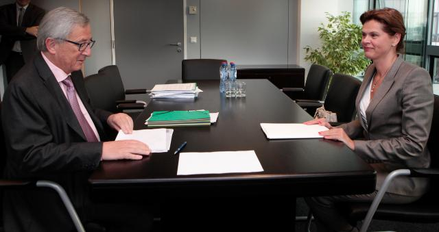 Meeting between Alenka Bratušek, Slovenian Prime Minister, and Jean-Claude Juncker, President-elect of the EC