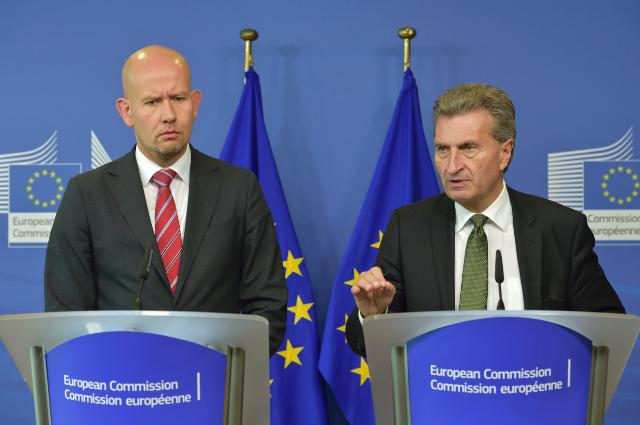 Joint press conference by Günther Oettinger, Vice-President of the EC, and Tord Lien, Norwegian Minister for Petroleum and Energy
