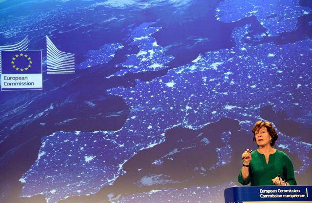 Conférence de presse de Neelie Kroes, vice-présidente de la CE, sur la réduction du nombre de marchés des Télécommunications soumis à la réglementation en Europe