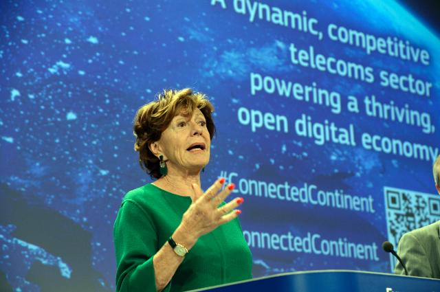 Press conference by Neelie Kroes, Vice-President of the EC, on the cut of the number of regulated markets of Telecoms in Europe