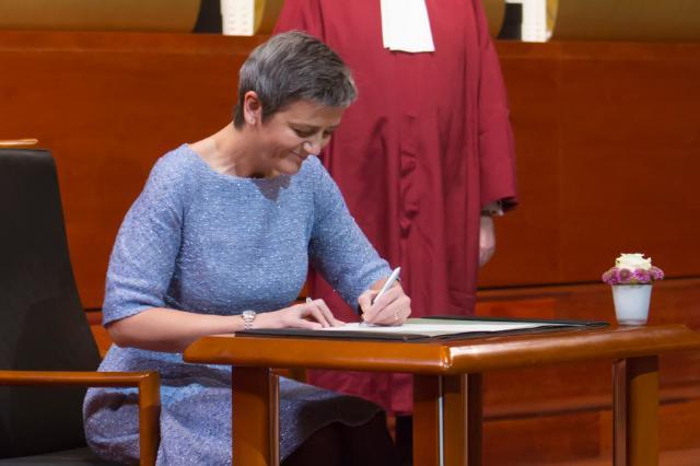 Prestation de serment de la Commission Juncker devant la Cour de justice de l'UE
