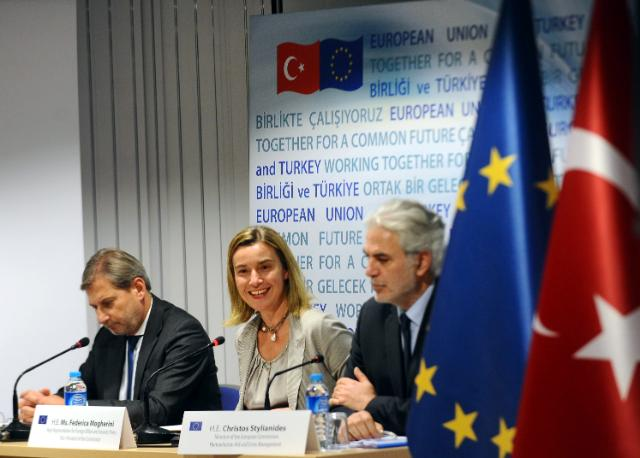 Visit of Federica Mogherini, Vice-President of the EC, Johannes Hahn and Christos Stylianides, Members of the EC, to Turkey